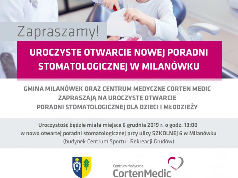 Plakat promujący otwarcie Gabinetu Stomatologicznego