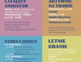 Program Letniej Strefy w czerwcu i lipcu